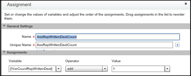 Assign count of won deal